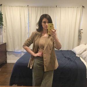 Vintage tan blazer 2P xs petite